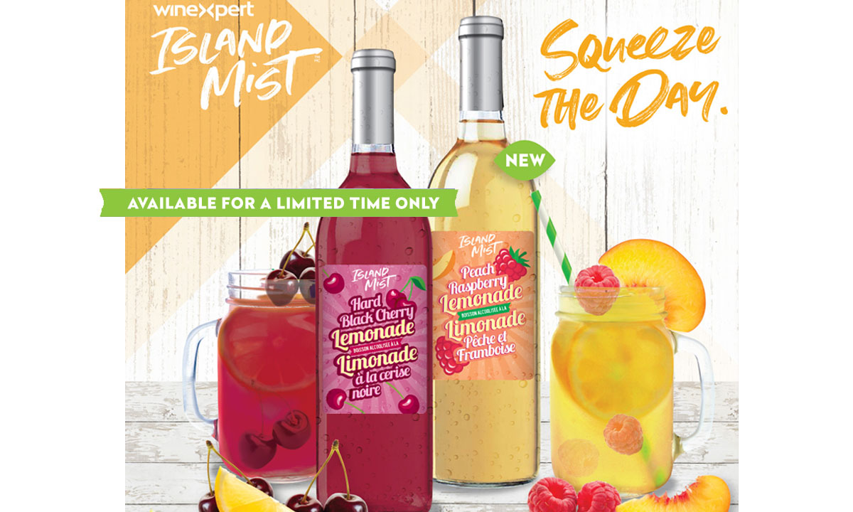 Winexpert Cornwall Limited Release Black Cherry Hard Lemonade and Peach Raspberry Lemonades available for a limited time only